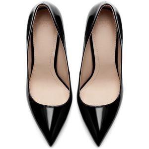 Zara Trafaluc AW 13 Black Heels - Patent and Suede